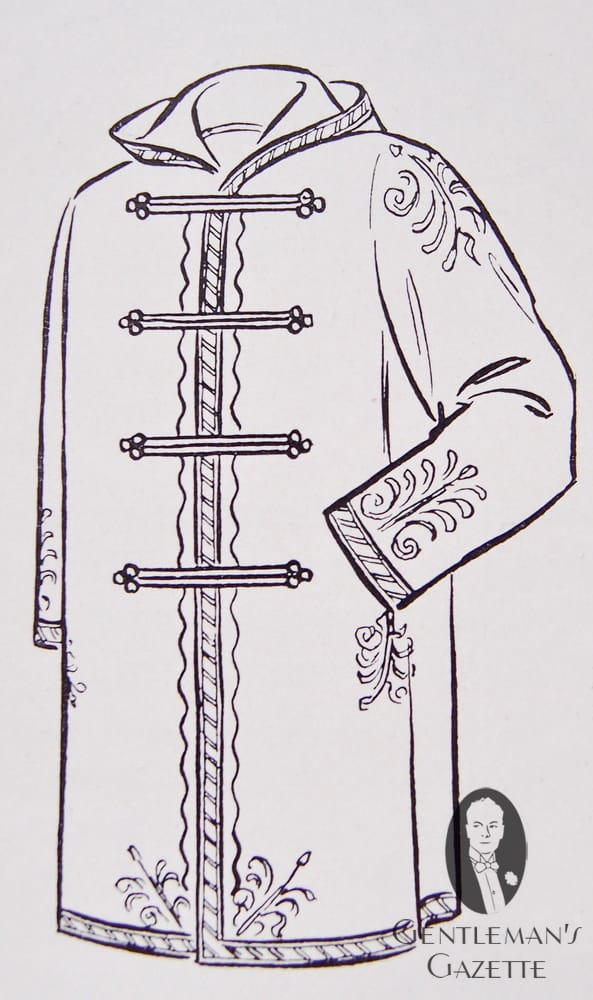 Polish Frock Coat at around 1850 - predecessor of the duffle coat with toggles & hood