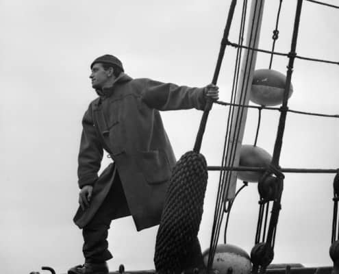 Sailor in duffle coat on November 20, 1942