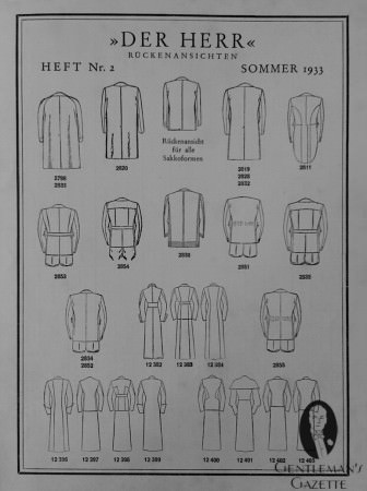 The Back of Coats & Overcoats in 1933