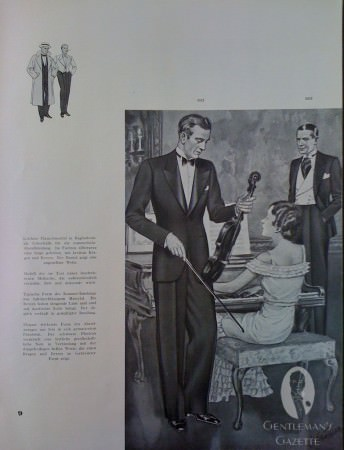 Tuxedo and Evening Suit with Plastron