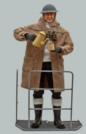 Wax Figure of  Montgomery in Duffle Coat
