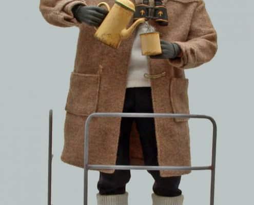 Wax Figure of Montgomery in Duffle Coat
