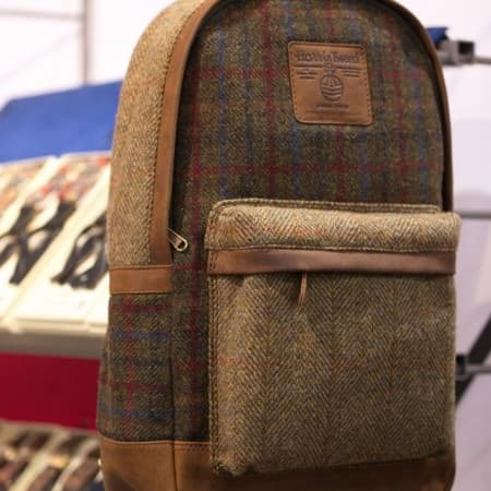 British Belt Company - Harris Tweed backpack