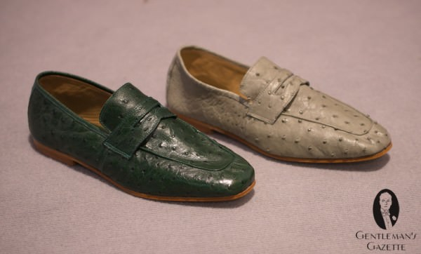 Fennix Italy Ostrich Loafers - $600