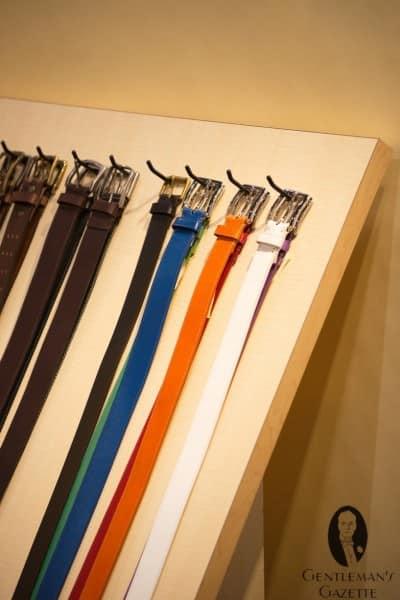Fullum & Holt belts in colors