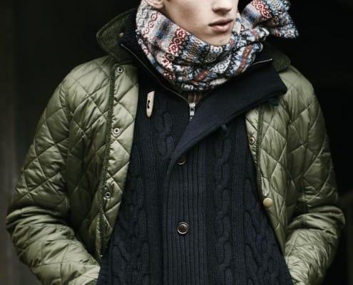 Mens Barbour Model Batesman Quilted Jacket in olive