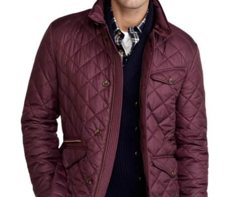 Quilted jacket Brooks Brothers in burgundy