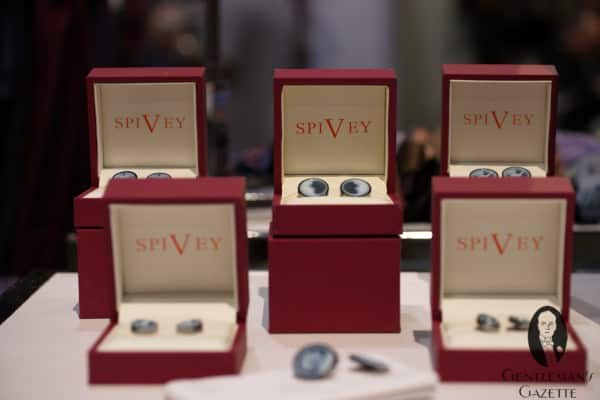 Spivey Cameo cuff links