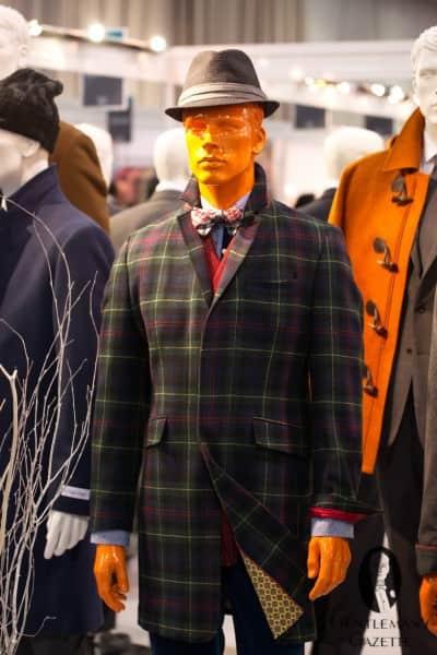 Tartan overcoat