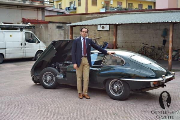 Anglophile Gabriele & his Jaguar E-Type