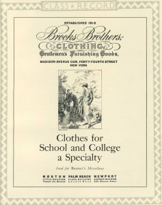 Brooks Brothers Clothes For School and College Specialty 1926