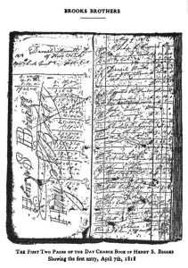 First 2 Pages of Brooks' Ledger from April 7, 1818