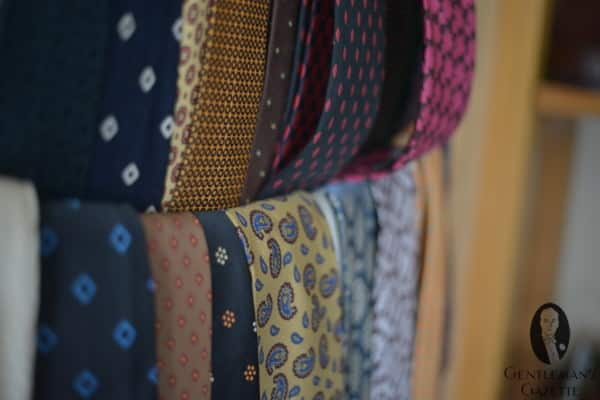 Selection of vintage tie patterns