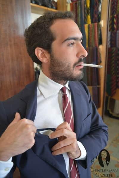 Vintage Neapolitan suit by Pugliese