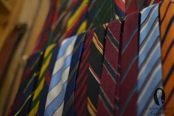 Vintage ties with club stripes