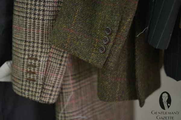 Beautiful green tweed