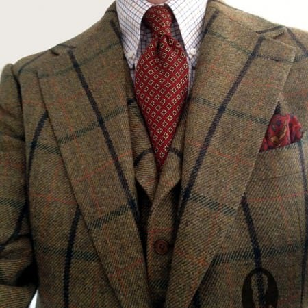 Bold tweed suit