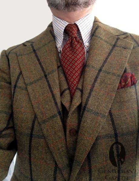 Bold tweed suit
