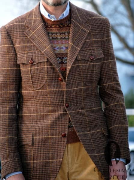 Breanish tweed jacket with custom details