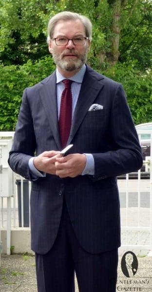 Classic dark blue suit