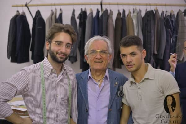Enzo Carfora with master Umberto and Apprentice