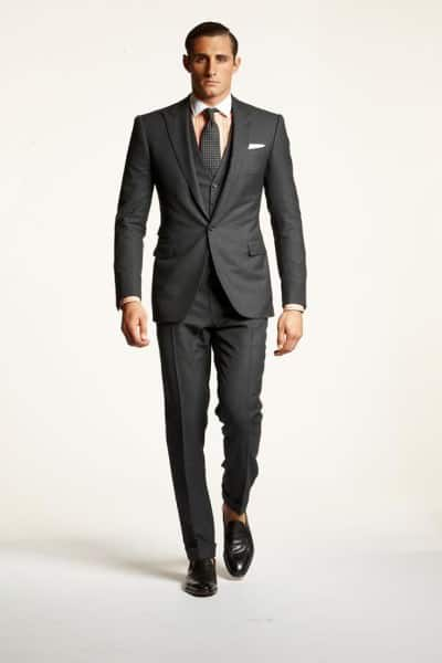 Gray 3 piece suit with pale orange winchester shirt Polo 2013
