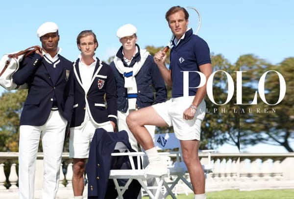 Navy White RL Tennis Outfits