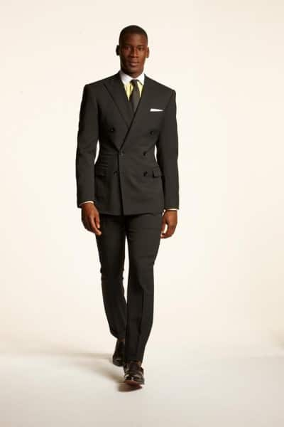 Ralph Lauren Gray DB suit with yellow winchester shirt