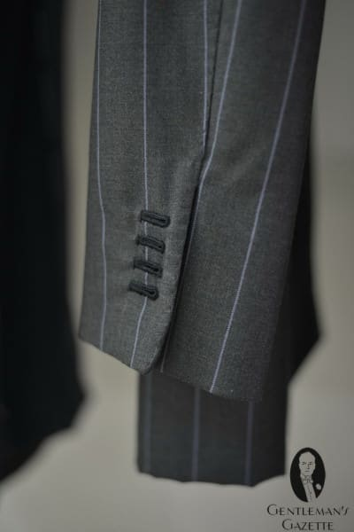Rope striped suit with handmade buttonholes