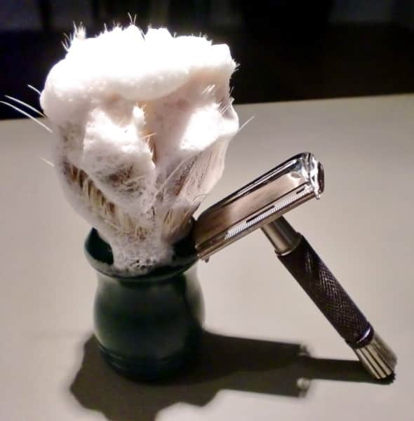 Shaving Brush, Lather & DE Razor