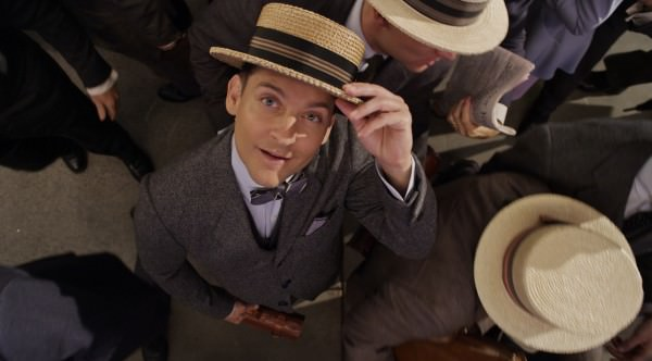Boater hats and bow ties