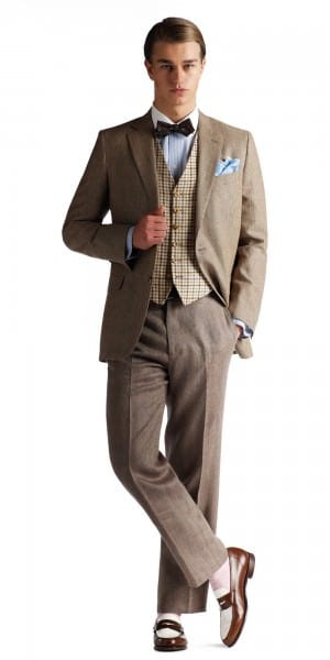 Brooks Brothers Gatsby combination with vest & belt