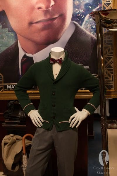 Green shawl collar cardigan - can be purchased.