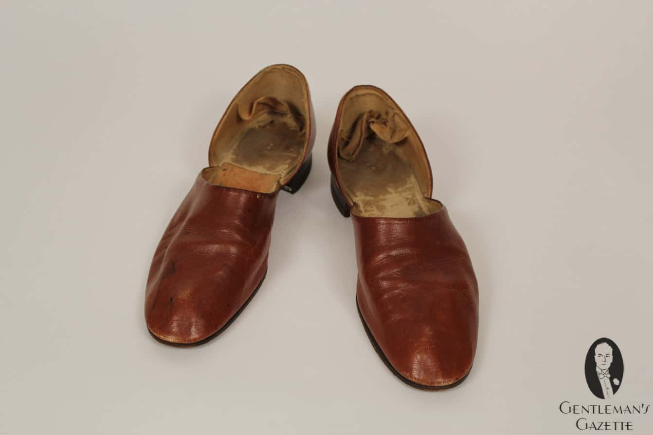 Leather house slippers   that show quite some wear. The Shoe Collection of Harry S  Truman   Gentleman s Gazette