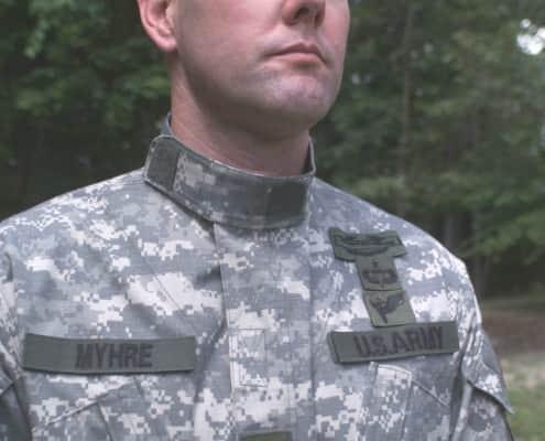 Mandarin Collar on US Army uniform