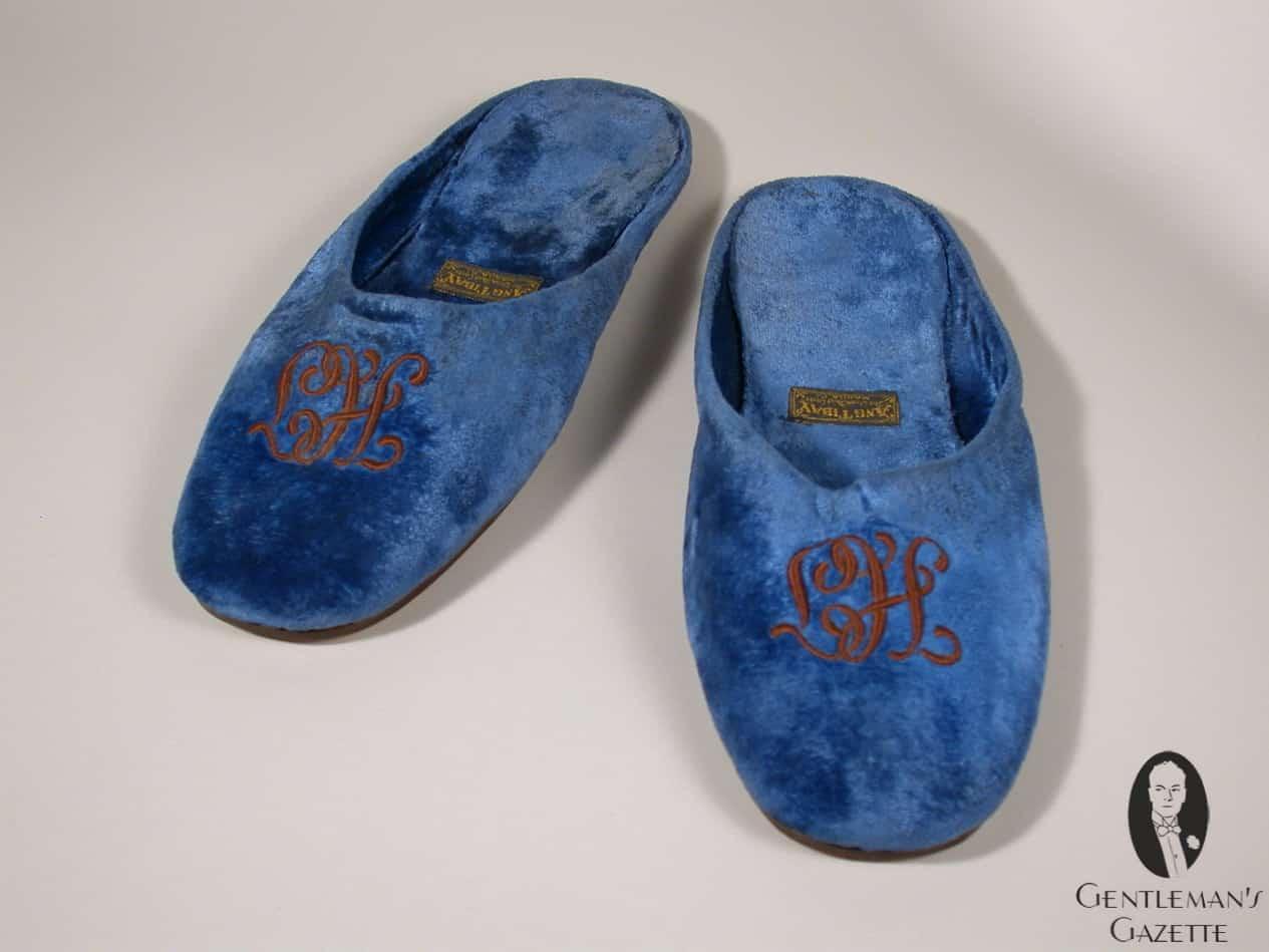 Monogrammed Bedroom Slippers Creepingthyme Info