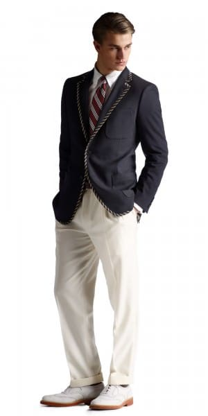 Navy Blazer with piping - Brooks Brothers Gatsby Collection