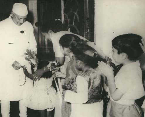 Nehru in white sherwani