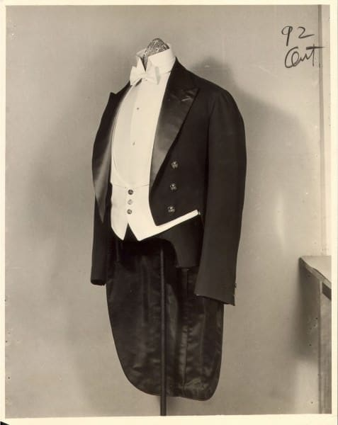 Original vintage tailcoat from Brooks Brothers - Look at the eight of the collar, bow tie and tailoring of the coat - superior to the reproductions in any facet