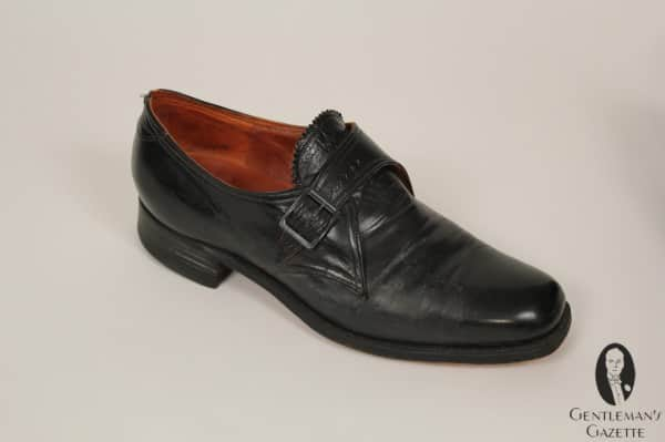 Square toe monk strap shoe from Harry S. Truman