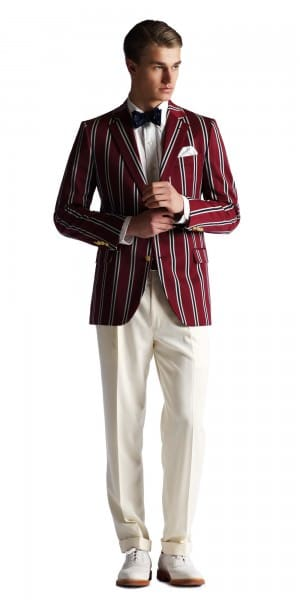 Striped blazer with gold buttons - Gatsby collection