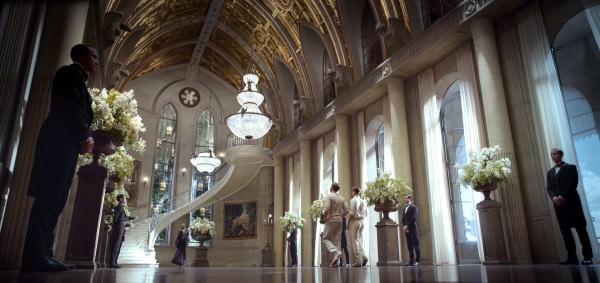 The fabulous lobby of the Gatsby mansion