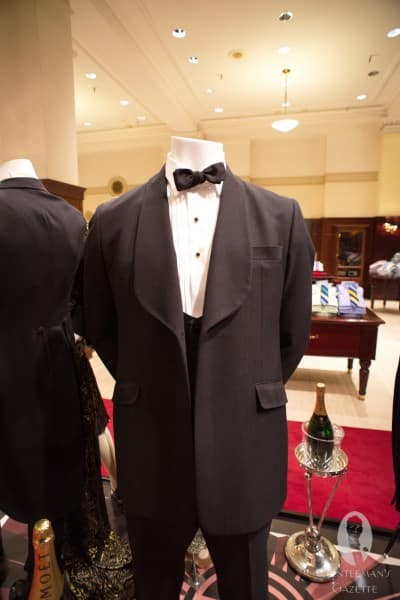 Vintage reproduction shawl collar tux with flaps from the Gatsby Collection