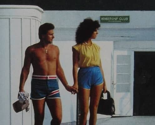 1980s swim trunks