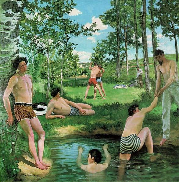 Frédéric Bazille's Summer Scene 1869, Oil on canvas Fogg Art Museum, Cambridge, Massachusetts