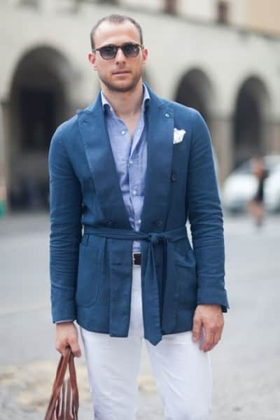 Belted summer jacket
