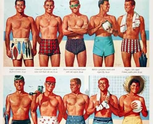 Catalinas men's swimsuit selection 1950