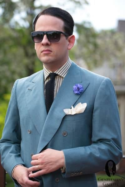 Fresco 6x2 DB Jacket with Pocket Square & Boutonniere