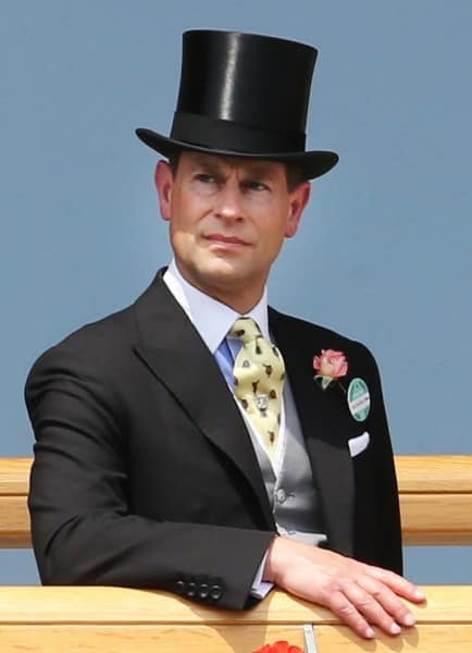 Prince Edward on Day 2 with single breasted vest, slip, boutonniere & top hat