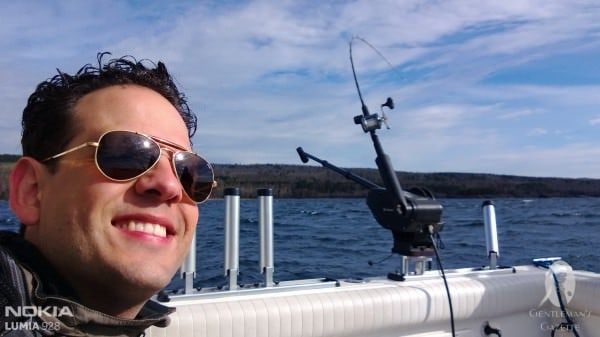 Yours truly on the boat